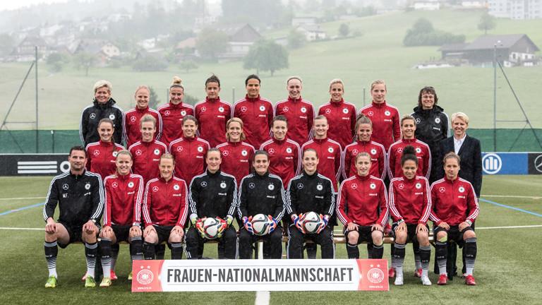 Das Team der Frauen-Nationalmannschaft.