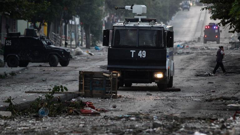 Istanbul nach Anti-Regierungsdemonstration.