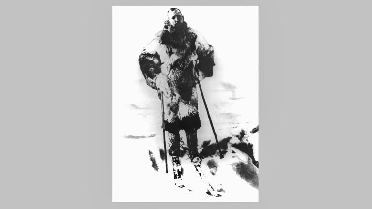 Archivfoto zeigt den norwegischen Polarfoscher Roald Amundsen; Foto: dpa