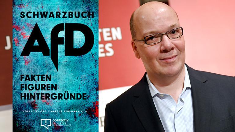 Das Cover von Schwarzbuch AfD und der Autor Markus Grill