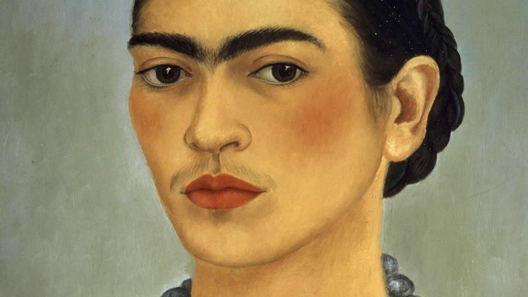 Selbstporträt der Malerin Frida Kahlo.