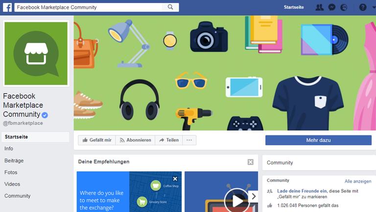 Screenshot Facebook Marketplace