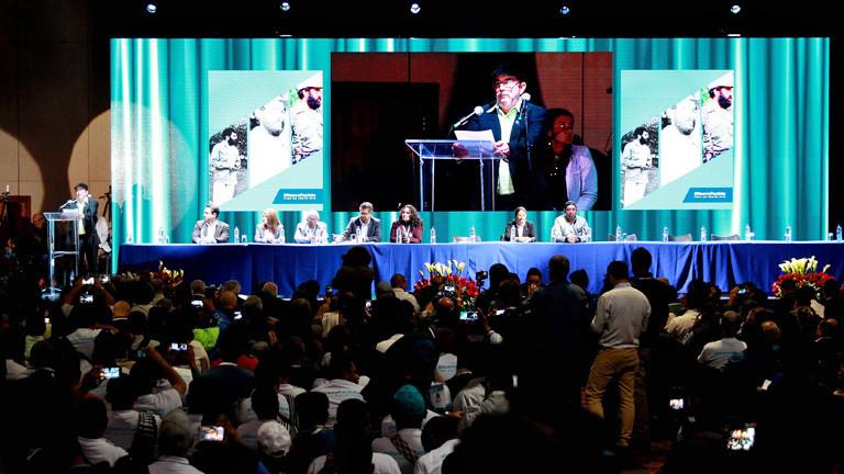 Am Sonntag (27. August) kommen 1200 Delegierte zu einem sechstägigen Kongress der FARC in Bogota zusammen.