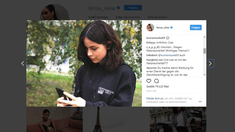 Der Post von Lena Meyer-Landrut und die kritischen Kommentare dazu