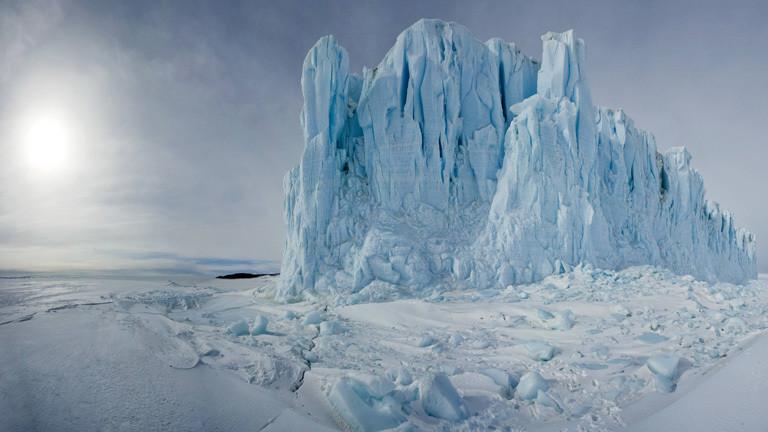 Ein Gletscher im Rossmeer.