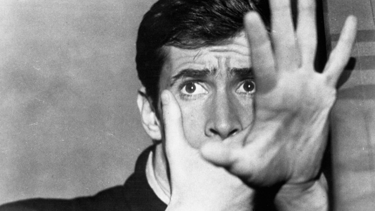"Anthony Perkins als Norman Bates in Hitchcocks ""Psycho"""