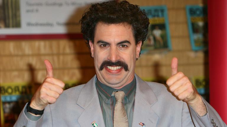Sacha Baron Cohen als kasachischer Reporter Borat.