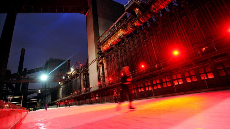 Eisbahn auf dem Gelände der Zeche Zollverein