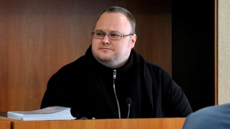 Kim Dotcom in einem Gerichtssaal in Neuseeland