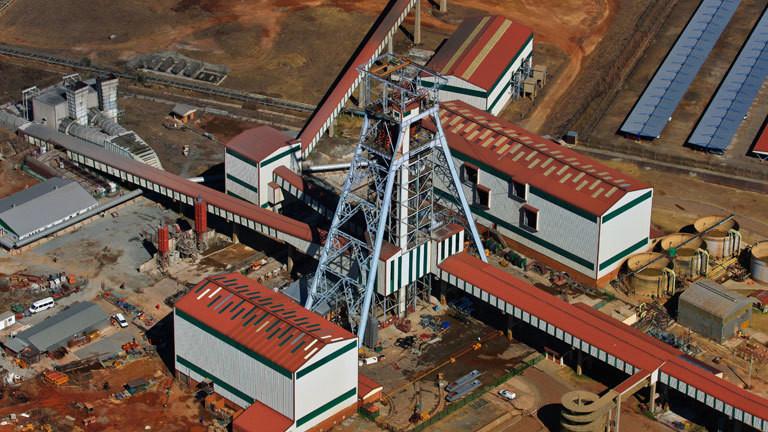 Goldmine in Südafrika