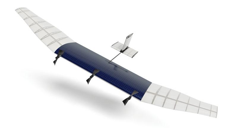 Eine Drohne die Facebook nutzen will, um Internet-Zugänge in entlegene Regionen zu bringen. Die Drohnen sollen in einer Höhe von rund 20 Kilometern kreisen und Geräte am Boden mit Satelliten verbinden.