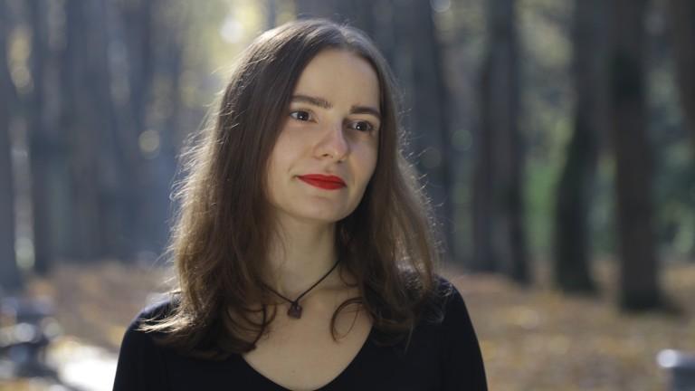 Journalistin Nasta Reznikava aus Minsk.