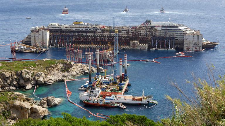 Die Präparation der Costa Concordia