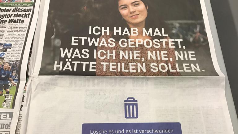 Facebook-Werbung in der Bild-Zeitung