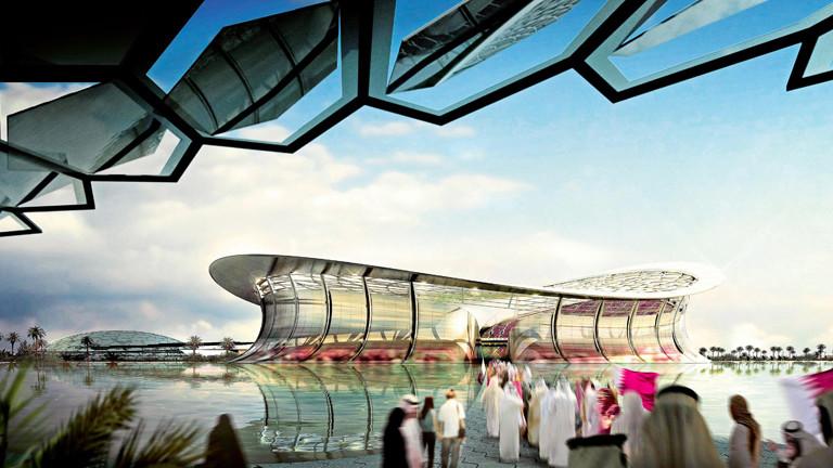 Skizze des WM-Stadions in Katar