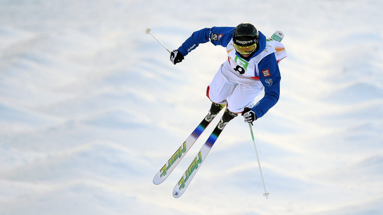 Anthony Benna beim Mens Moguls Final at the FIS Snowboard World Championships 2015 in Kreischberg,
