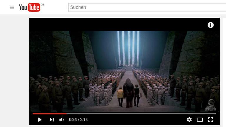 """Youtube-Screenshot des Videos """"Star Wars minus Williams"""" der """"Auralnauts"""""""