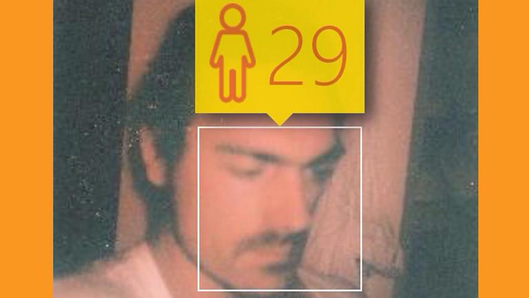 Twitter-Profilfoto von Moderator Till Haase wird von how-old.net analysiert.