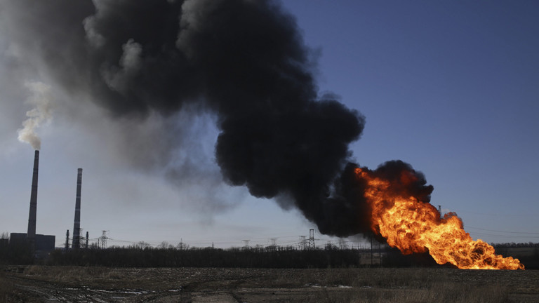 Explosion bei einer Gaspipline in der Nähe von Debaltsewe