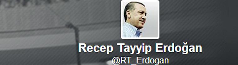 Der Twitter-Account des türkischen Ministerpräsidenten Recep Tayyip Erdogan.