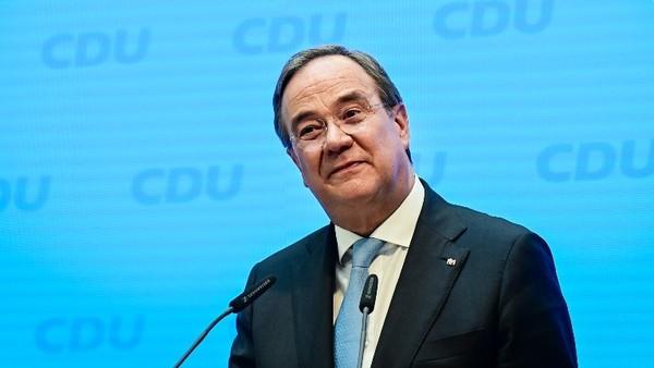 Armin Laschet spricht auf der Sondersitzung des CDU-Bundesvorstandes am 20. April 2021.
