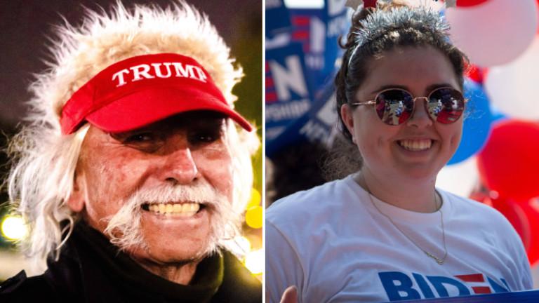 Trump-Supporter und Biden-Supporterin