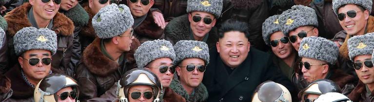Kom Jon-un mit nordkoreanischen Piloten