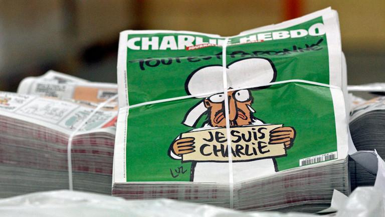 Das Cover der ersten Charlie-Hebdo-Ausgabe nach den Attentaten.