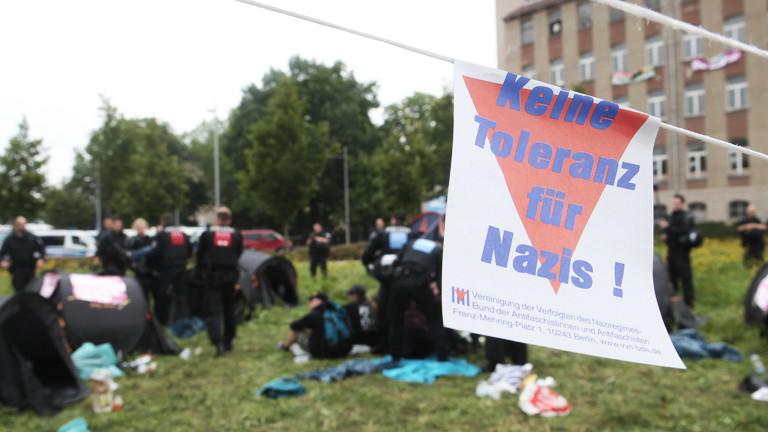 Protest gegen rechte Musikveranstaltung in Gera