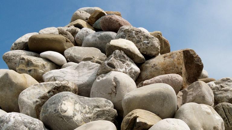 Steinhaufen in den Alpen