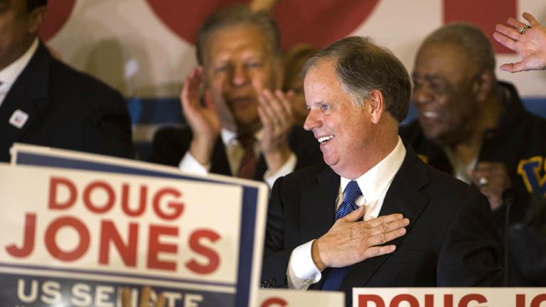 Doug Jones in der Wahlnacht