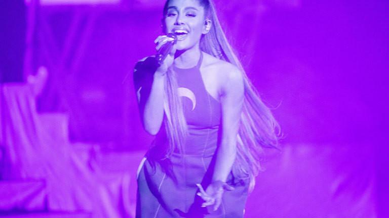 Ariana Grande bei einem Konzert im August 2017; Foto: dpa