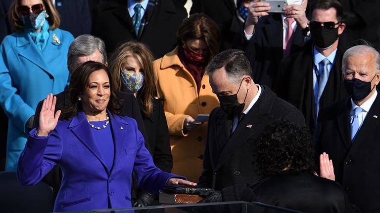 Kamala Harris bei ihrer Vereidigung zur US-Vize-Präsidentin (20.01.2021)