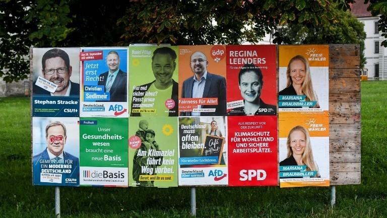 Wahlplakate im bayrischen Memmingen zur Bundestagswahl