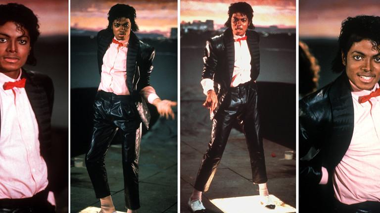 """Michael Jackson während der Dreharbeiten zu """"Billy Jean"""" im März 1983"""
