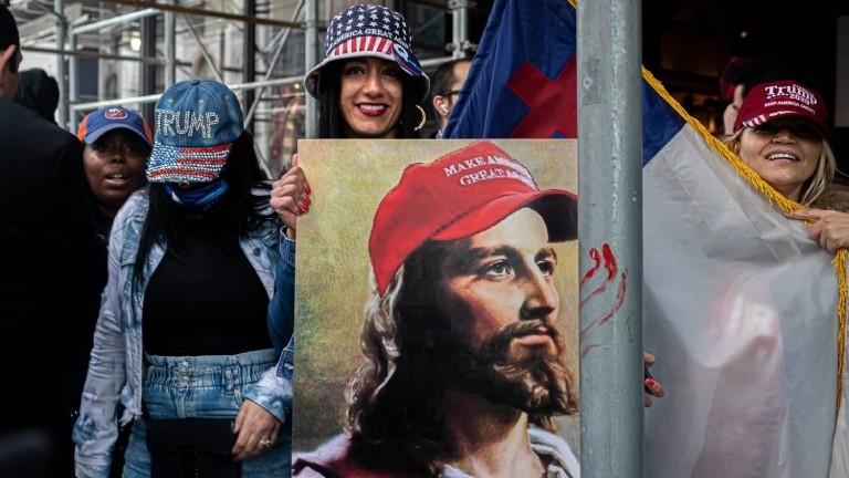 Trump-Unterstützerinnen am 25.10.2020 in New York
