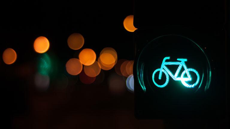 Eine Fahrrad-Ampel