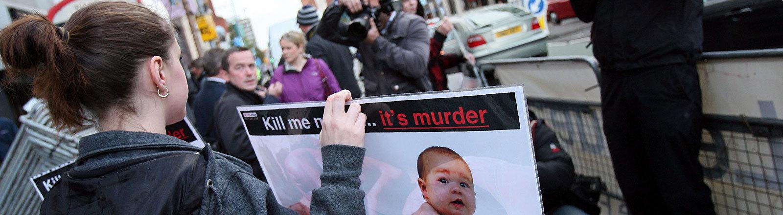 Protest gegen Abtreibung in Nordirland