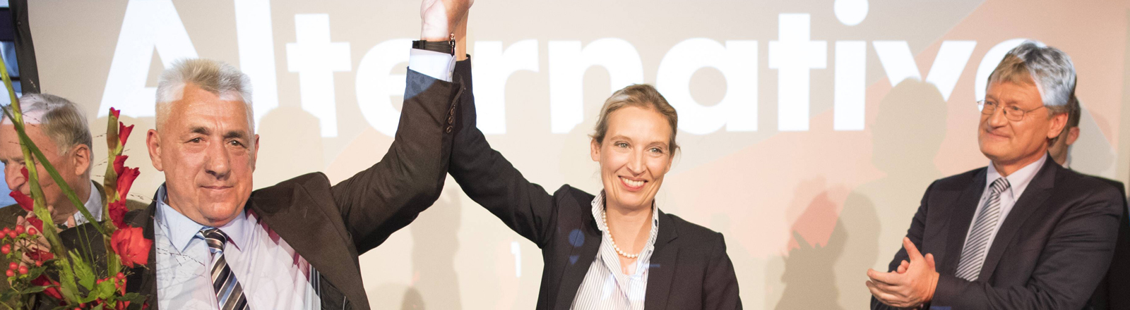 AfD Wahlparty: Alexander Gauland, Alice Weidel und Jörg Meuthen