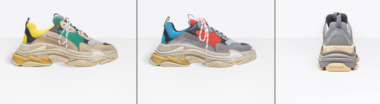 Balenciaga Schuhe Triple S (Screenshot Deutschlandfunk Nova)