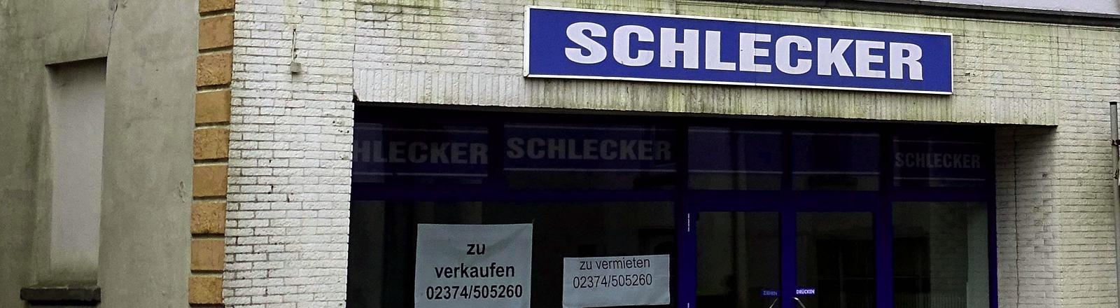 geschlossene Schlecker-Filiale
