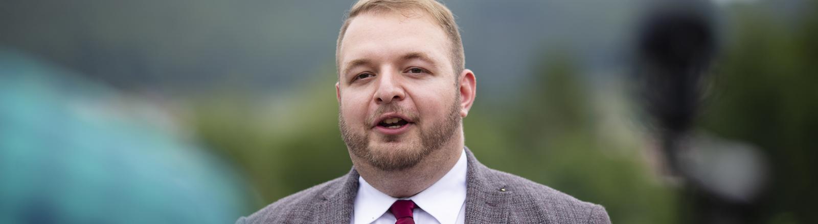 Damian Lohr, Bundesvorsitzender der Jungen Alternative (JA