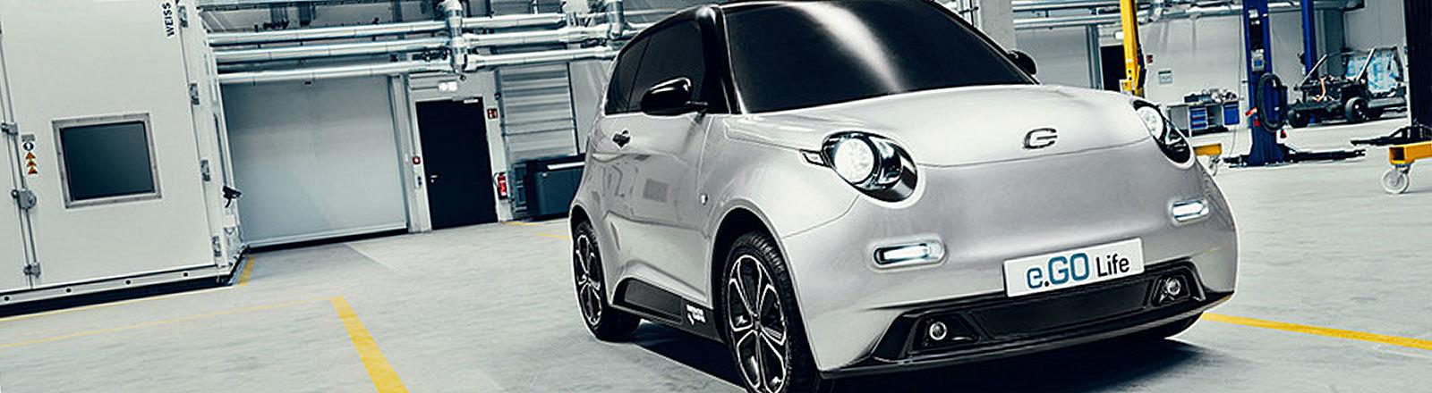 Das Elektroauto e.GO Life der Aachener Firma e.GO Mobile AG