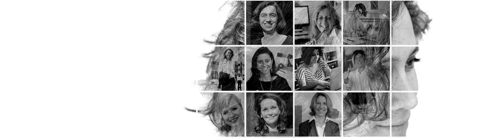 Fotomontage mit Nominierten des Preises Women Innovators 2017