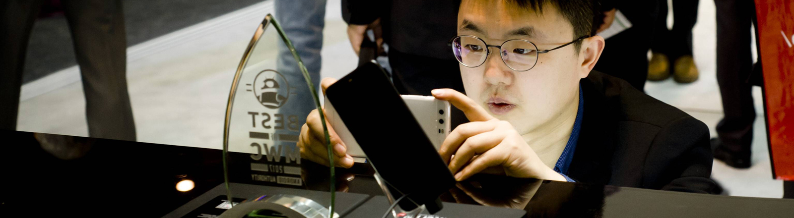 Huawei präsentiert sein neues Smartphone P10 auf dem Mobile World congress 2017