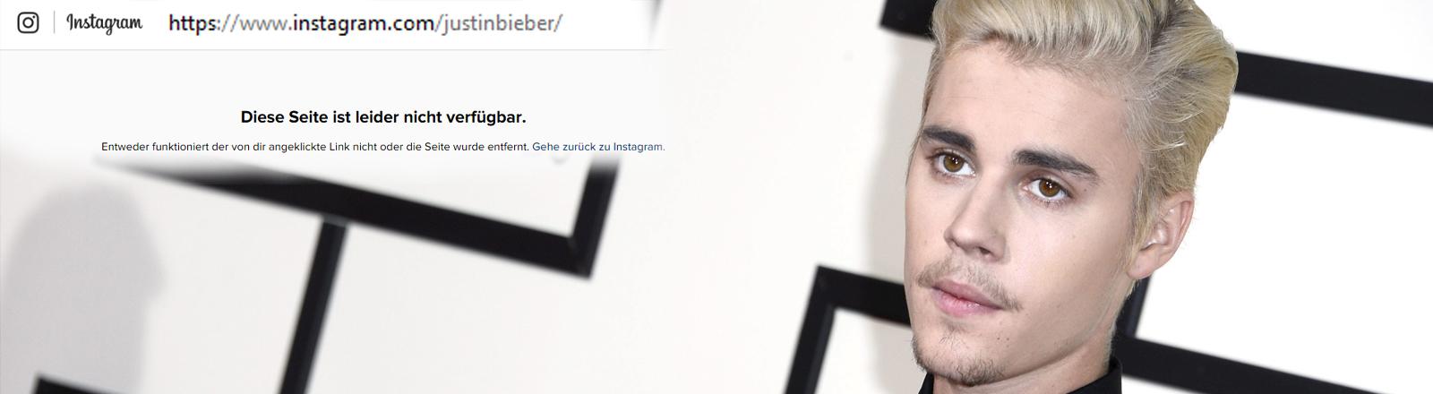 Justin Bieber hat seinen Instagram-Account gelöscht
