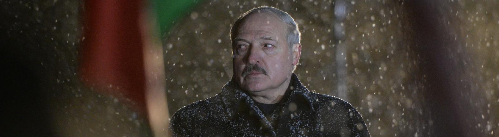Belarusian President Alexander Lukashenko attends a rally marking the 78th anniversary of the Khatyn massacre at the Khatyn memorial, Minsk region, Belarus.