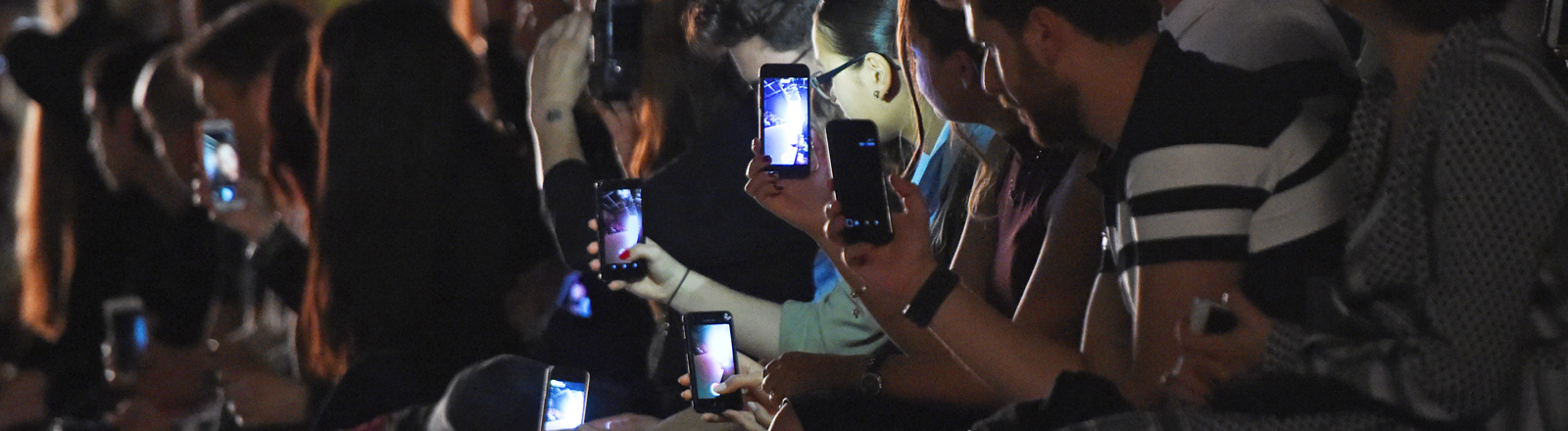 Publikum auf der Fashionweek