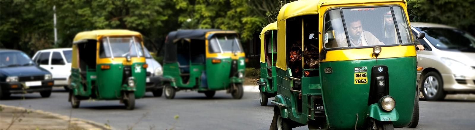Tuktuks in Neu Delhi