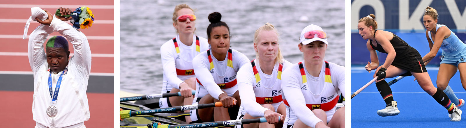 Olympische Spiele 2021: Raven Saunders, Nike Lorenz, Carlotta Nwajide